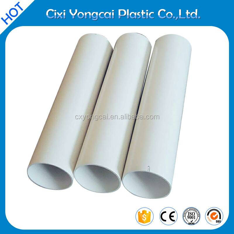 Chinese manufacter large diameter polypropylene clear pvc pipe