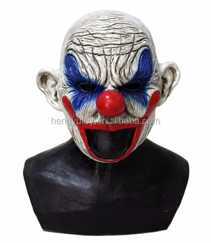 Halloween Carnival Clown Costume Rubber Latex Mask for Party Decoration