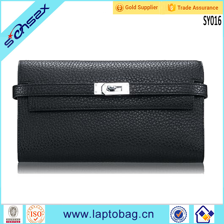 China Supplier European Style Purse Genuine Leather <strong>Wallet</strong>