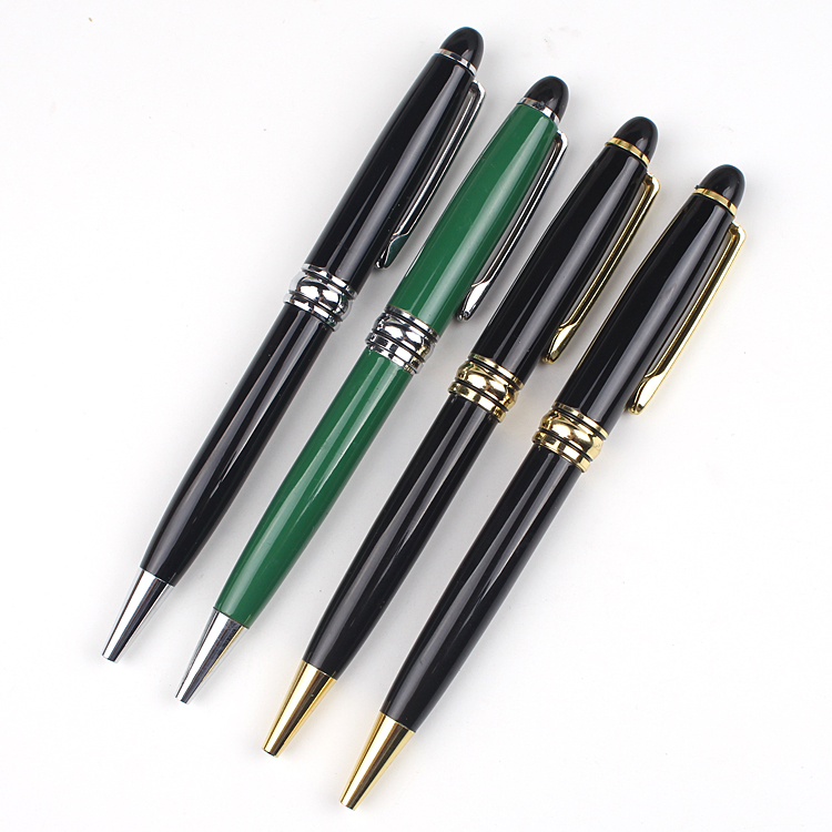High value promotion black metal ball pen with custom logo ball-point pen