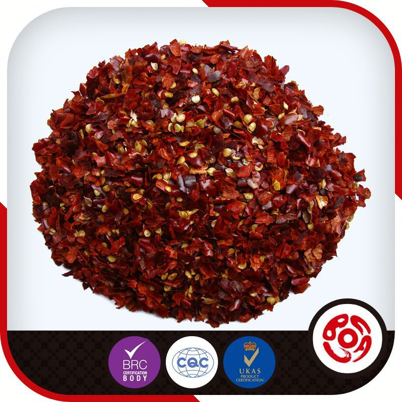 Chinese Red Bell Pepper Crushed For Export