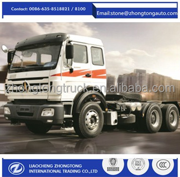 Beiben prime mover right hand drive 380hp tractor truck