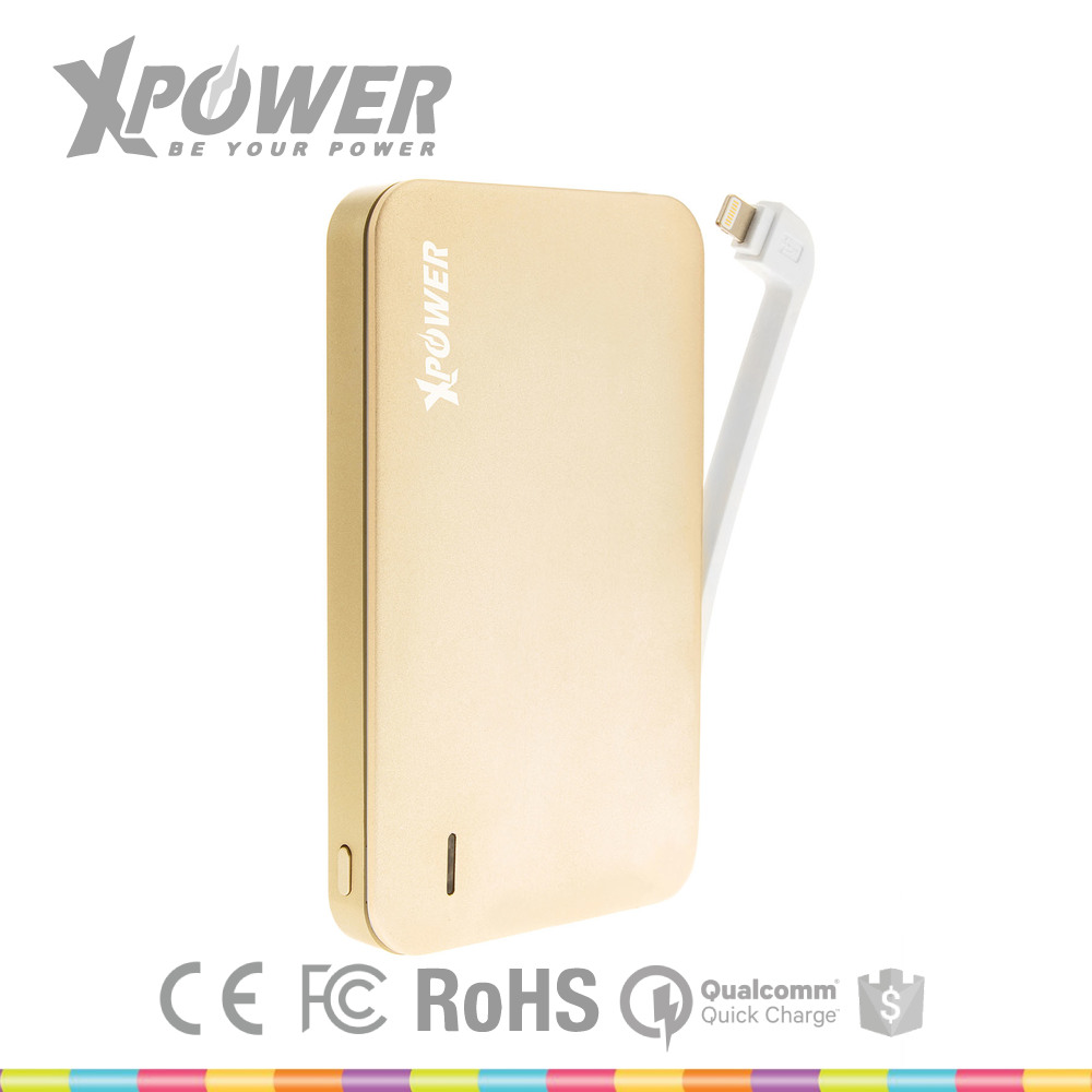 China Factory Top Quality RoHS Certificate Li-Polymer Battery 12000 Light Color USB Connector Portable Power Bank