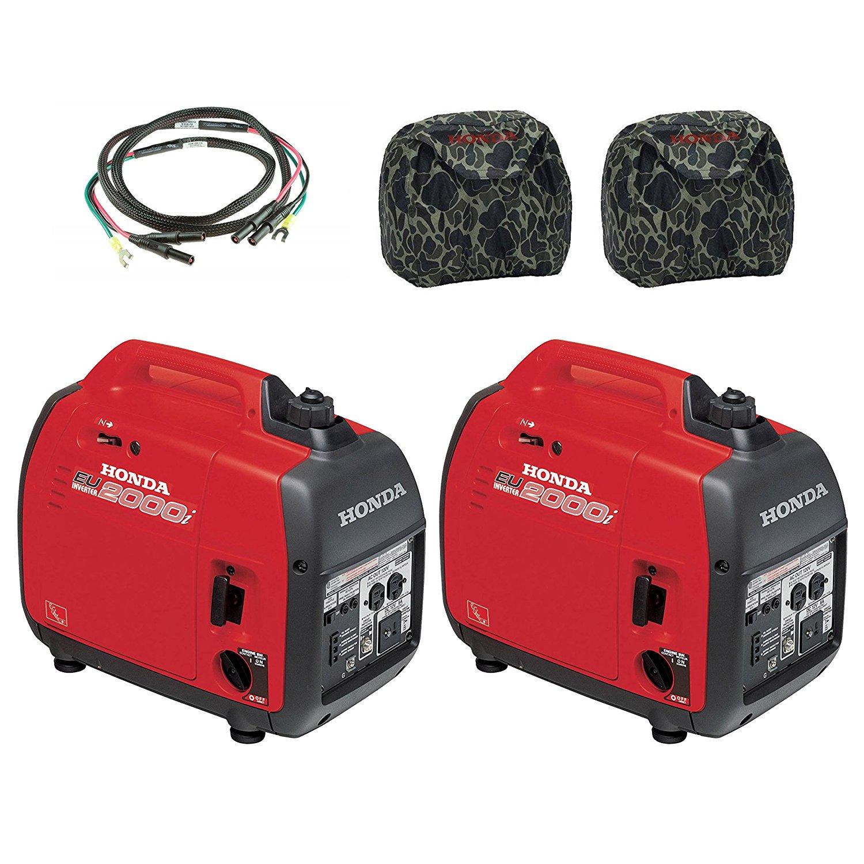 Get Quotations · Honda (2) EU2000i 2000W Generator with Inverter, (2) Camo  Covers,