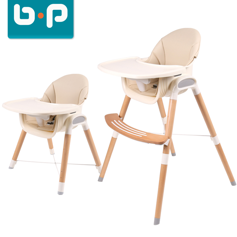 High quality adjustable wooden baby feeding high chair durable eating chair for infant kids