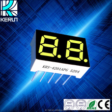 small size common cathode 0.4 inch 2 digits 7 segment led display green color