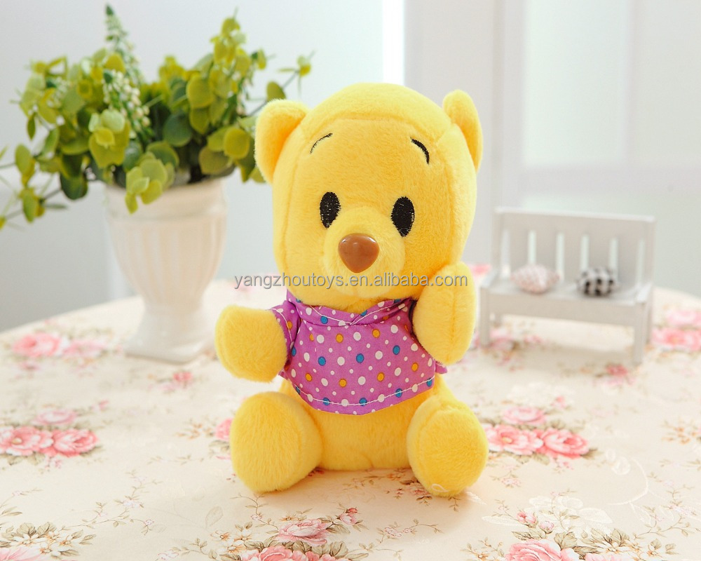 oem factory china plush yellow teddy bear
