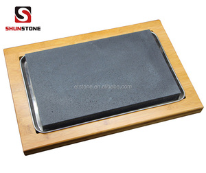Restaurant Granite Rock Sharing Platter Lava Steak Stone And Plate For Sale