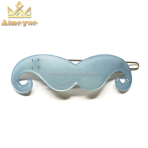 Cute Kids Hair Accessories Baby Hair Clips Pure Color Mustache Hair Grips Clips