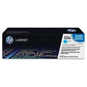 HP Genuine Brand Name, OEM CB541A (HP125A) HP 125A Cyan Laser Toner Cartridge (1.4K YLD) for Color LaserJet CM1312 MFP, Color LaserJet CP1215, Color LaserJet CP1515n, Color LaserJet CP1518ni Printers
