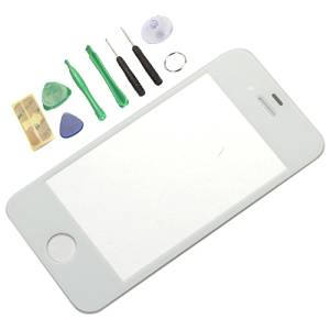Generic Replacement Front Screen Glass Lens Cover for iPhone 4S White(LCD screen digitizer is not included)