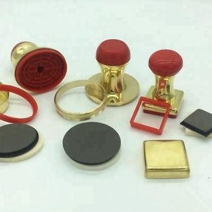 Full set brass self inking rubber stamp pocket making material case + stamp pad