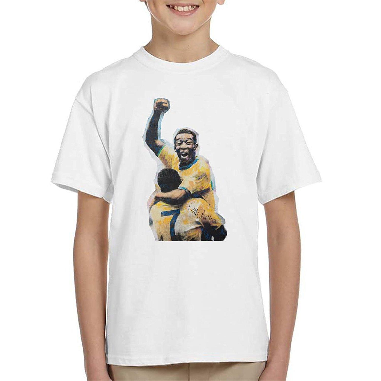 05e7b99b823 Get Quotations · Sidney Maurer Original Portrait of Pele Kid s T-Shirt