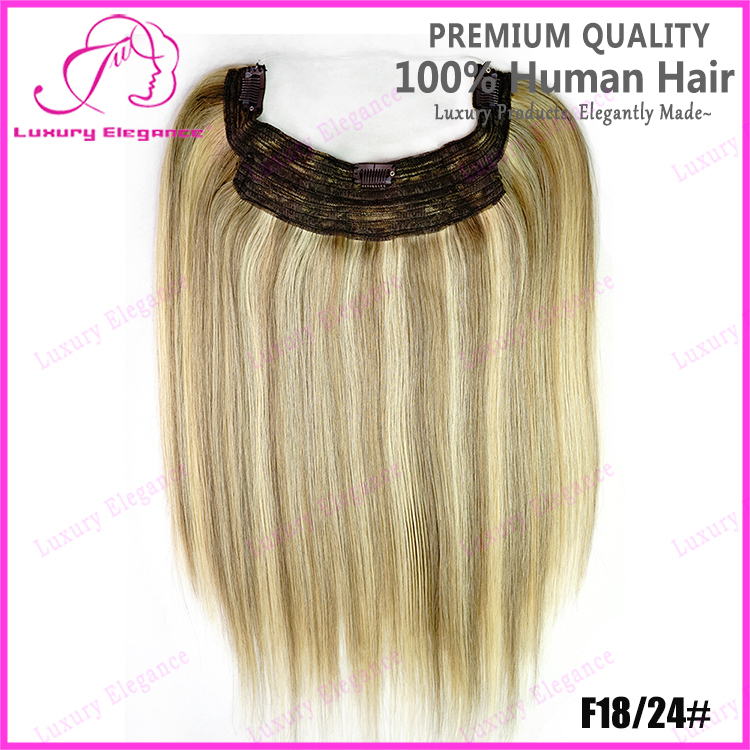 Fish Wire Hair Extension Blonde Color Virgin Human Hair Halo Hair