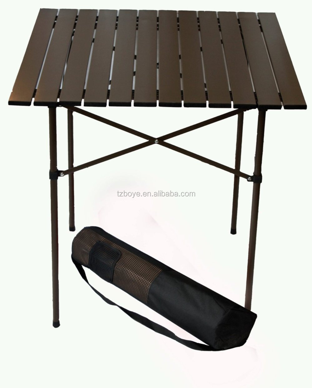 Table In A Bag Tall Aluminum Portable Table With Carrying Bag