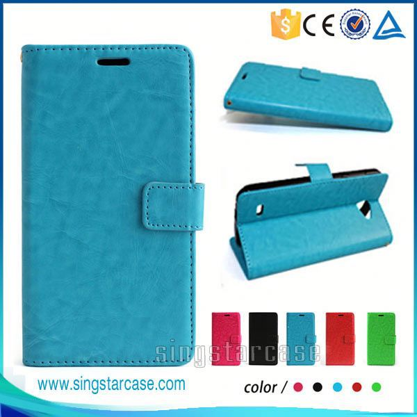 Wholesale Phone Cases Crazy Horse Leather Wallet Case Cover For InFocus M550