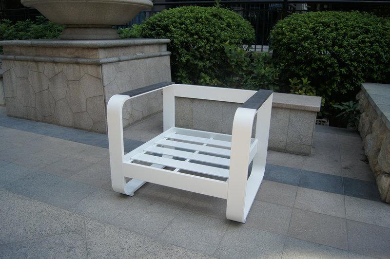 KD Structure Aluminum Sofa Set In Powder Coating / High Quality Aluminum  Outdoor Sofa Part 32