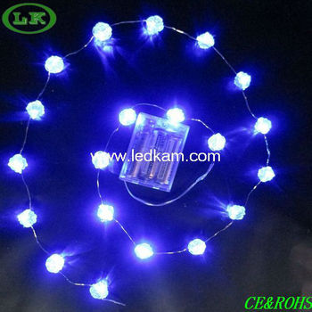lk blue rose bead low voltage christmas light - Low Voltage Christmas Lights