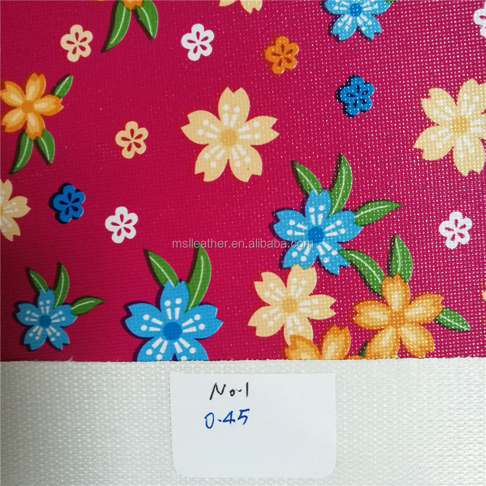 Transfer Film Printed PVC faux leather for handbags,luggages,suitcase