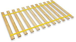 The Furniture Cove New Twin Size Custom Width Bed Slats with Yellow Webbing Straps - Choose your needed size - Eliminates the need for a link spring or box spring!