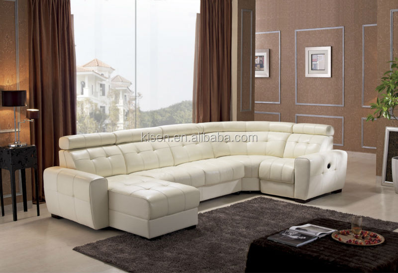 Living Room Furniture Sectional Recliner Leather Chesterfield Sofa Bed