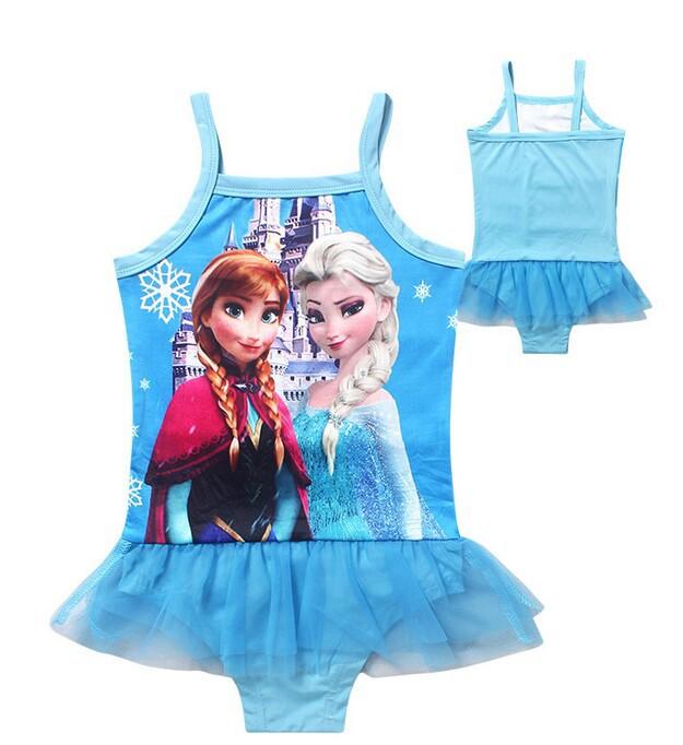 bf4e09462907a Hot sale Elsa Anna Girls Swimsuit For Girls Cute Swimwear Bathing Beachwear  Bikini Wear One Piece