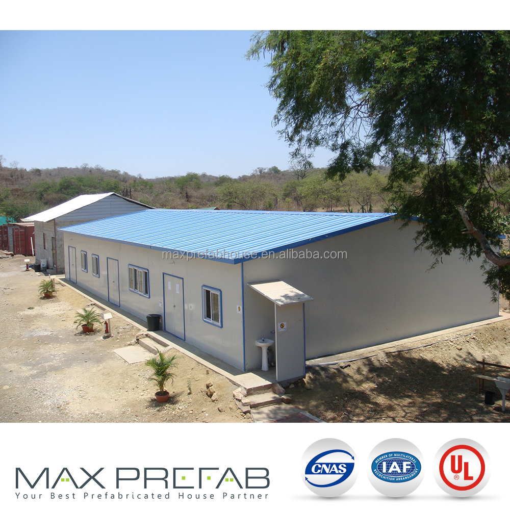 Pre-painted light-steel SHS frame extension T modular prefabricated house canada