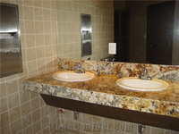 Stone Tiles Xiamen Yellow Fantasy Granite Tiles Price In ...