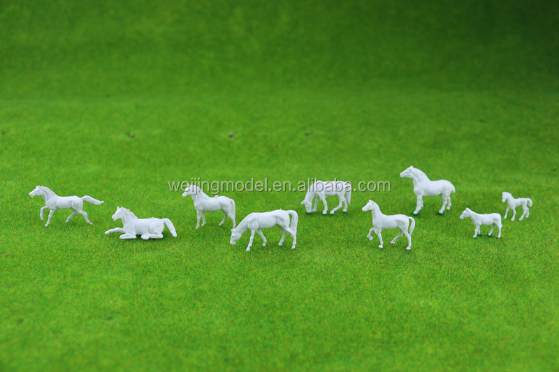 model figure, model animals, scale animals for Z scale, plastic building resin farm horse for 1/150