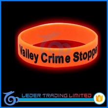 fluorescent glowing silicone bracelets, cheapest silicone wristbands add LOGO
