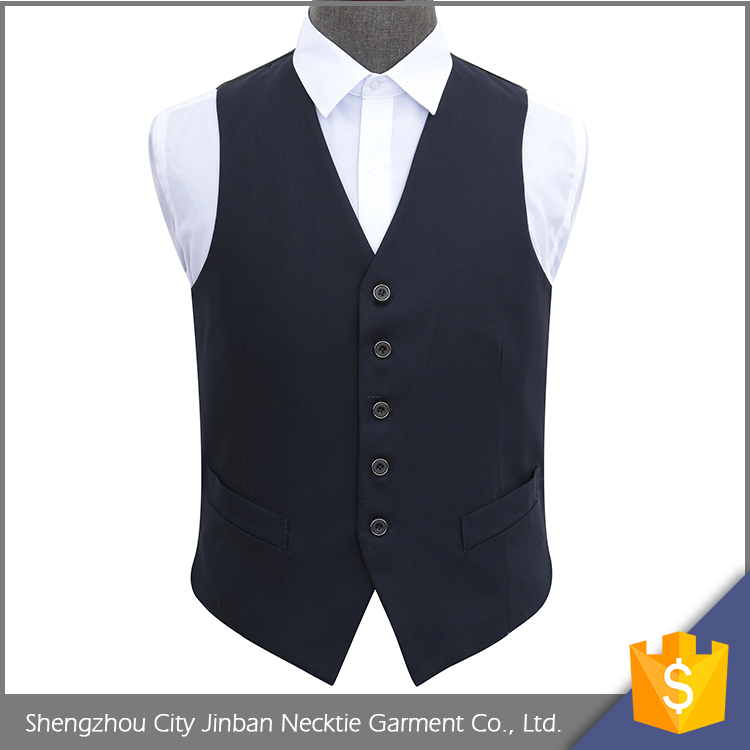 China factory custom logo woven polyester vest jacket for mens