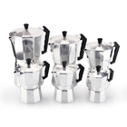 Factory Price High Quality 1/2/3/6/9/12cups Aluminum Moka Espresso Coffee Maker
