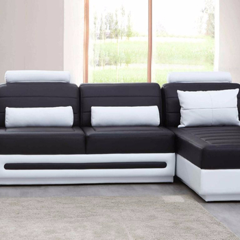 Incredible Genuine Leather Big Sectional Sofa Set Living Room Furniture Black And White Color Buy Black And White Color Couch Hot Selling Sectional Sofa In Short Links Chair Design For Home Short Linksinfo