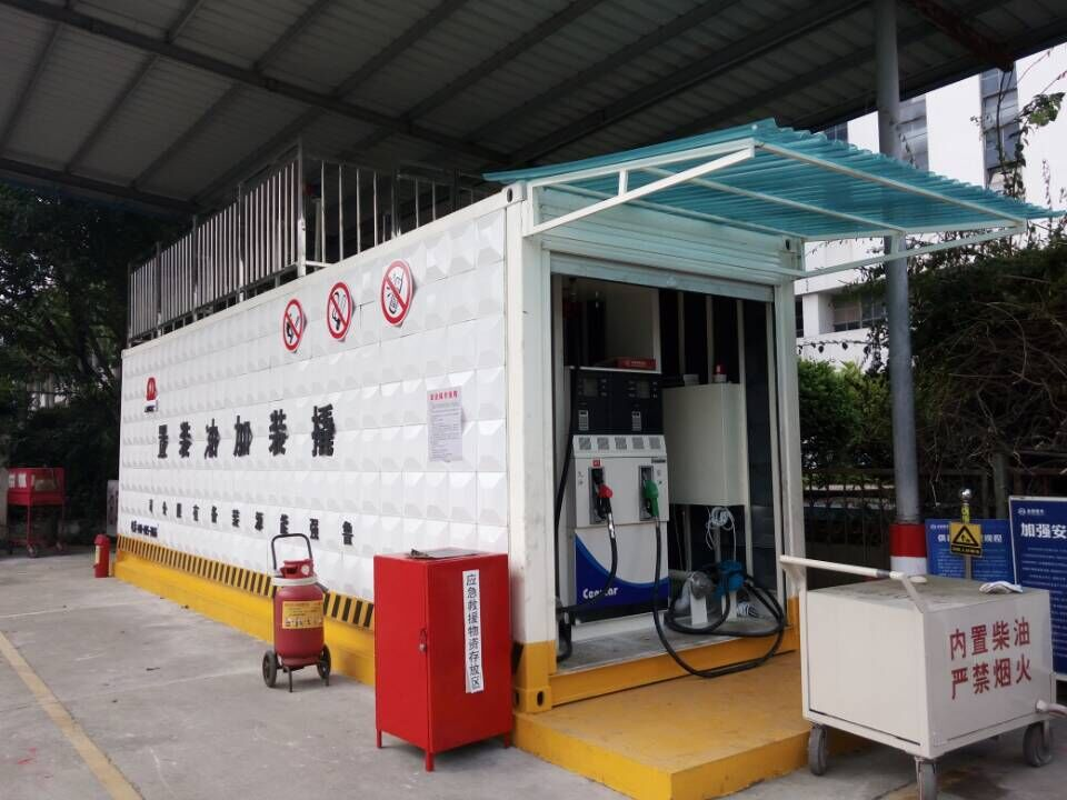 Fire-proof Container Petrol Station With Brand Fuel Dispenser And ...