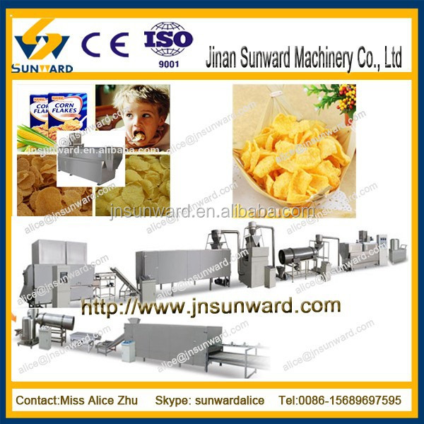 Automatic Instant kelloggs corn flakes making machine, corn flake making machine,processing