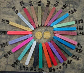 The hot sale colored sealing wax stick for wedding invtitation accept custom