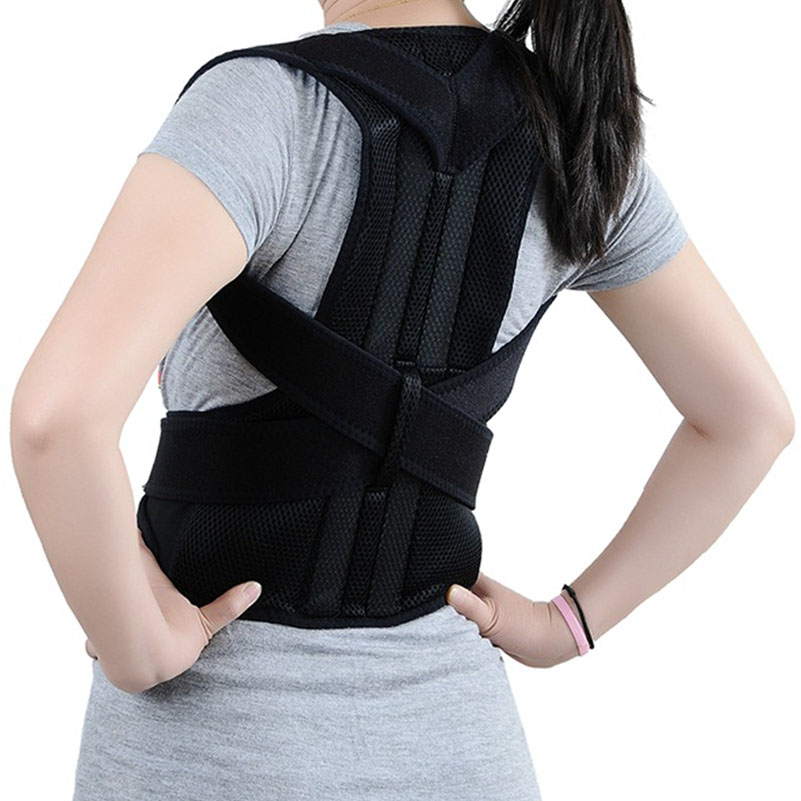 Adjustable Therapy Back Support Brace Belt Band Posture ...