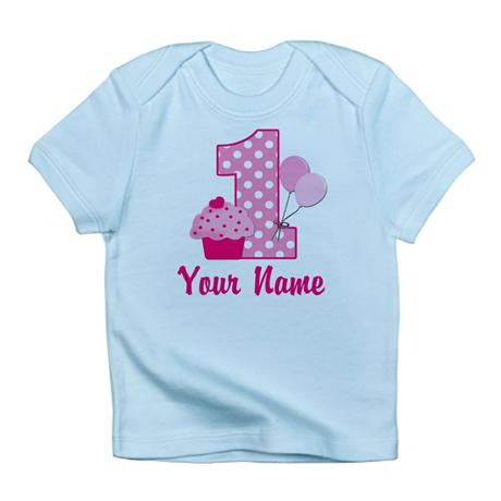 2956c2339e45a 1st Birthday Pink Cupcake Infant T-shirt - Buy Baby's T-shirt Print ...