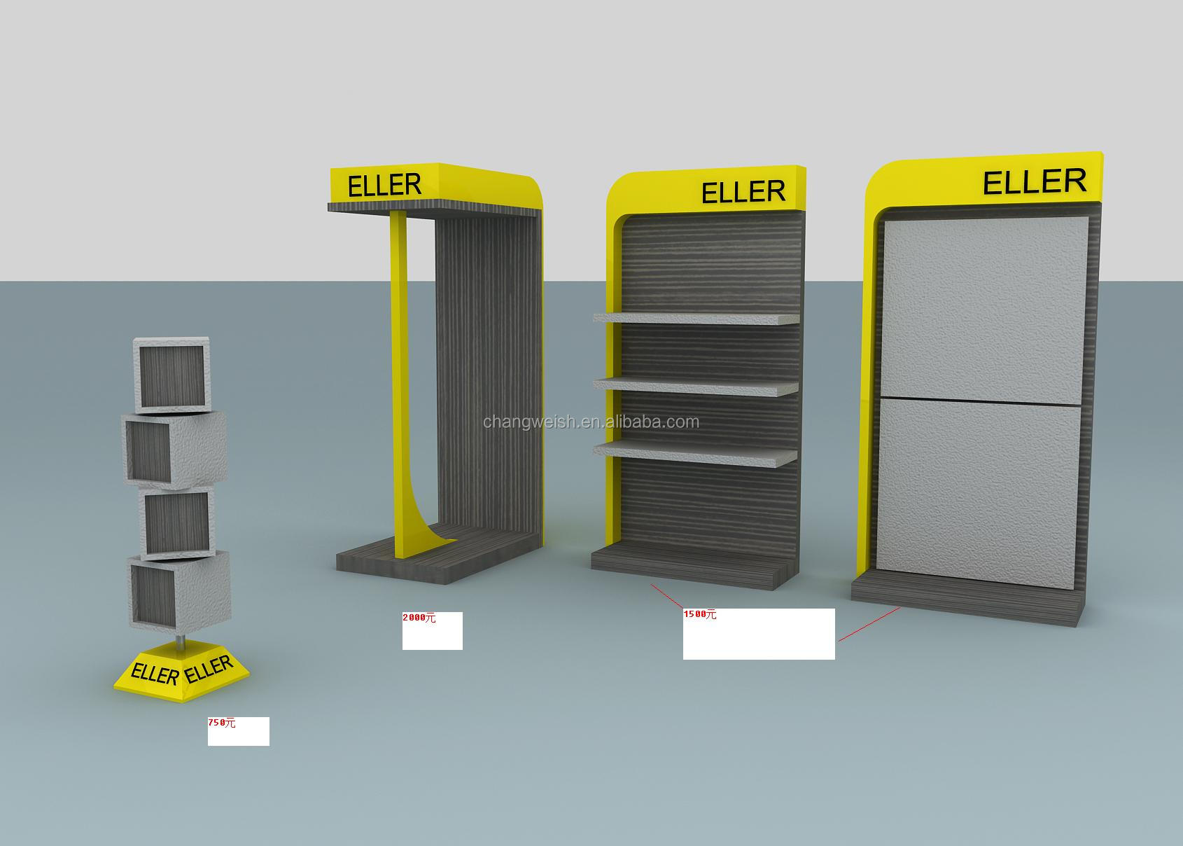Exhibition Stand With Shelves : Exhibition booth design displaying shelf display stand