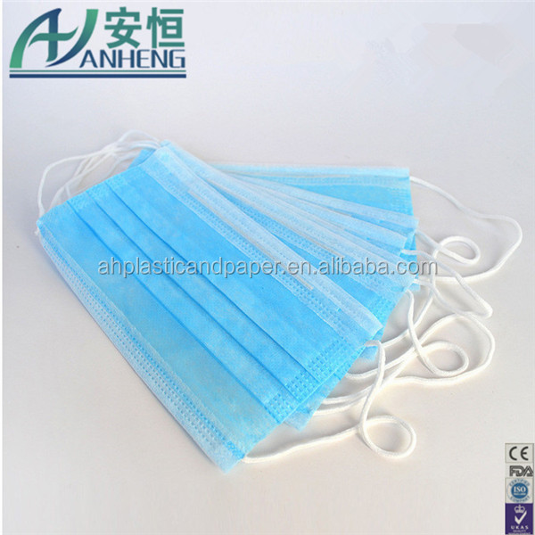Blue White color Nonwoen face mask 2 ply 3ply with earloops HOT SALE disposable Nonwoen face mask