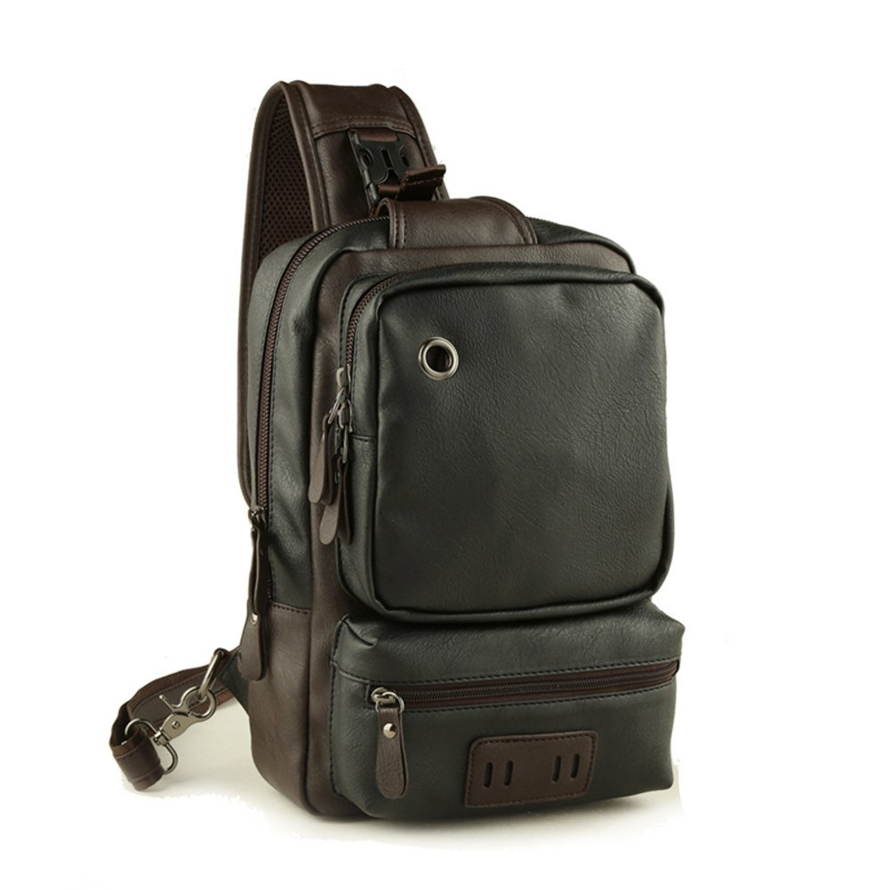 Korean version of the current male package/Casual chest Pack/single shoulder bag/messenger bag /Simple small backpack/Outdoor travel bag Messenger bag-C