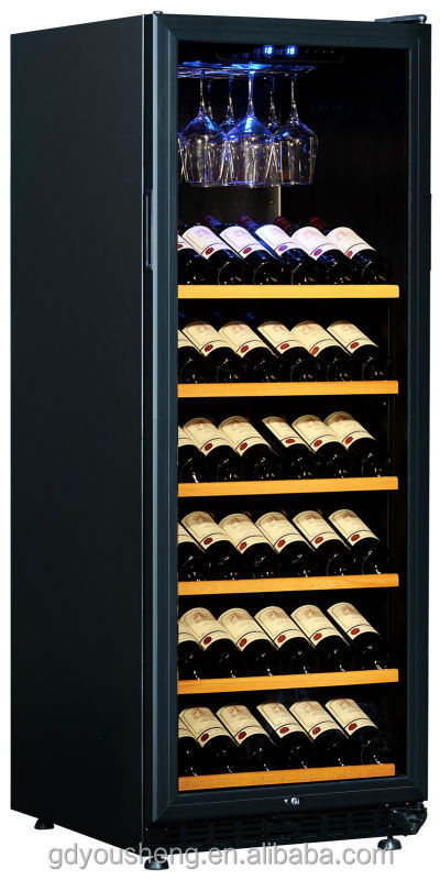 kitchen appliance equipment display fridge wine chiller wine cooler USF-128S(130Bottles 380L)