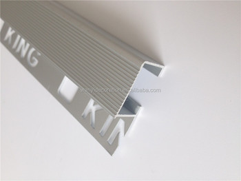 Aluminum Square Tile Trim And Stair Nose For Tile