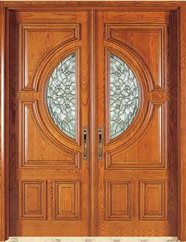 твердое ядро античная деревянные двери Solid тикоригинальные краски