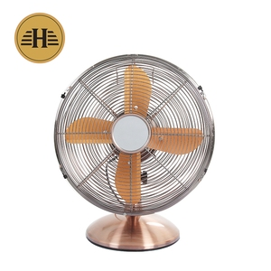 Retro Metal Table Electric Fan With 4 Pieces Aluminum Fan Blade