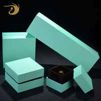 Packaging Design Green Jewelry Box, Jewelry Cardboard Gift Box With Lid