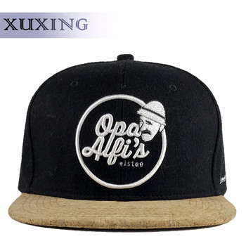 ee960cbf1b684 Wood Brim Snapback Black Hat