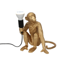 Resin Crafts Home decor Table Desk lighting Decorations Lamp Monkey