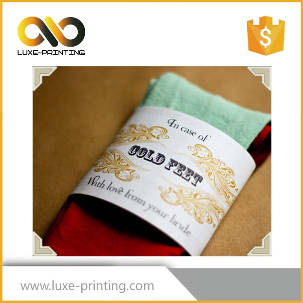 Creative design custom printing socks hang tag