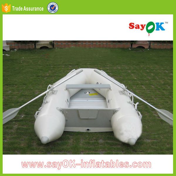 large cheap inflatable fishing boat trailer with electric motor